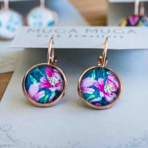 Folk And Floral Glass Dangles